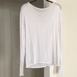 All yoga glimpse long sleeve white size small
